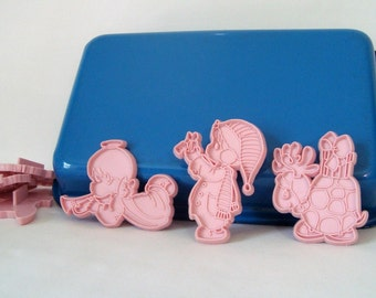 Precious Moments Cookie Cutters 6 Enesco 1991 Pink
