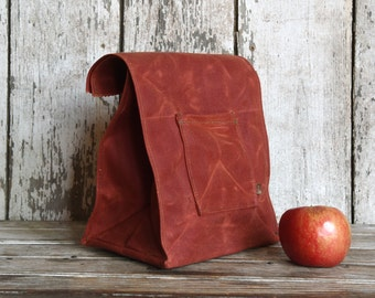 The Marlowe Lunchbag: Rust by Peg and Awl