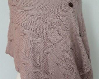 Poncho Knitting PATTERN- Cable Poncho PDF knitting pattern