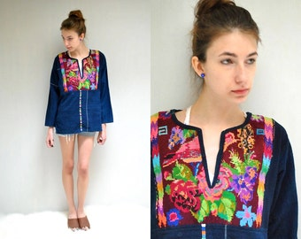On Layaway...   Mexican Embroidered Top //  Mexican Blouse  //  THE QUANGO