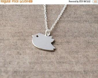 Small Bird,Delicate Silver Necklace,Silver Necklace,Bird Necklace,Sterling Silver