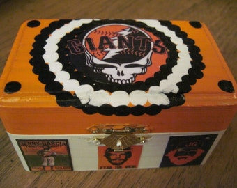 San Francisco Giants Grateful Dead Small Hand Crafted Decoupaged Keepsake Box
