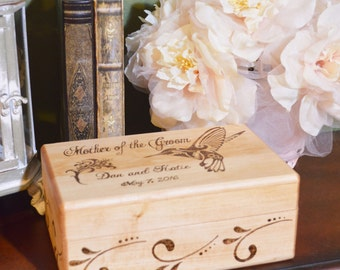 Personalized Wood Burned Romantic Box for Couples