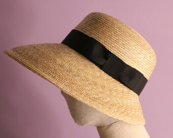 "Wide Brim Straw Hat ""Cecil"""