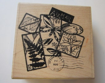 rubber stamp - Botanical Poste - Uptown Design Co, collage stamp