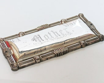 Antique Coffin Casket Silver Plate Mother Plaque 1854-1918