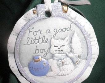 END of WINTER SALE 40%Off Good Little Boy ornament