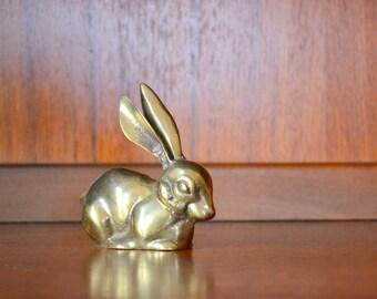 vintage brass bunny figurine