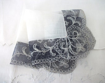 Antique Lace Trimmed Heirloom Hankie