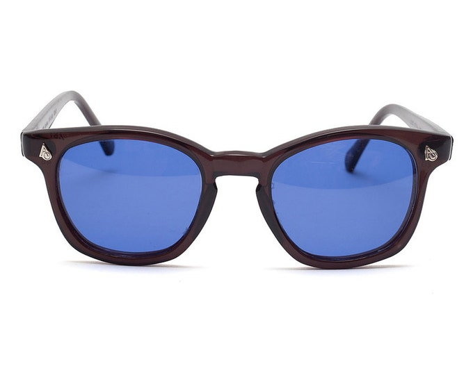 Vintage Deadstock American Optical Safety Glasses - Black & Blue