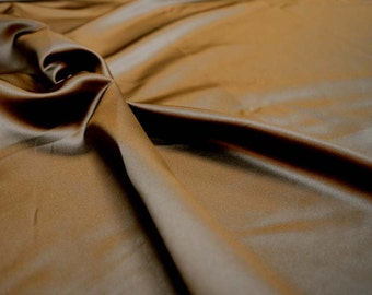 Satin Chocolate Fabric REMNANT 54 inches x 1.875 yards