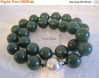 20% OFF ON SALE Hand Knotte Green Jade Necklace
