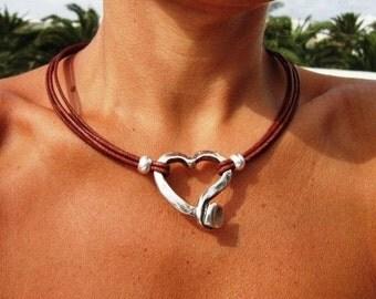 Heart necklace, heart jewelry, heart Pendant, silver pendants, bead necklaces, sterling silver necklaces, jewelry sets