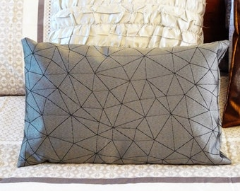 Pillow Cushion - Silver lumbar decorative