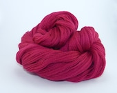 Embroidery yarn, hand-dyed with natural dyes, merino wool thread, embroidery floss, 30gr, dyed with COCHINEAL, dark pink color, 183