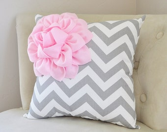 Pale Pink Throw Pillows. Baby Pink Nursery Pillow. Chevron Home Decor Pillows. Zipper Pillows. Flower Pillows. Girls Room Dorm Pillows