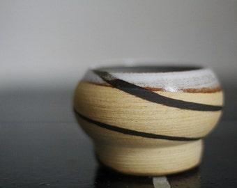 Stoneware tumbler - marbled tumbler, vase