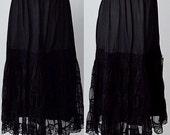 Vintage 1950s Black Half Slip, Black Half Slip, Rembrandt, 1950s Slip, Black Tiered Slip, Black Slips, Slips