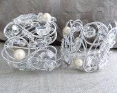 2 decorative curtain tiebacks, silver color, crystals clear Swarovski drapery holder tie backs curtain