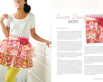 Apron Sweet Daisy Dots Couture Artistic Apron by  Designer TrishVernazza Featured in Apronology Magazine