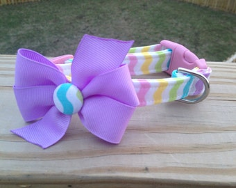 Easter Dog Collar with a Bow