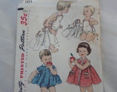 1950s Playsuit, Dress & Jacket, Brother and Sister Fashion, Beach Bathing Suit, Sunsuit- Vintage 50's Simplicity Sewing Pattern 1151- Size 1