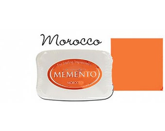Memento Dye Full Size Water Based Ink Pad MOROCCO Orange