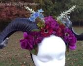 CUSTOM LISTING ~ Evening Fairy Horn Headpiece
