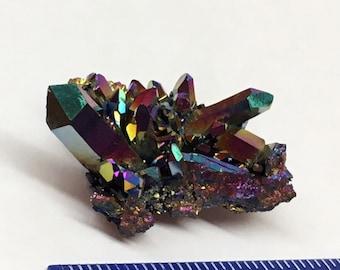 Aura Crystal cluster Titanium Rainbow Arkansas Quartz #75