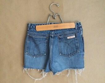 WEEKEND SALE 25% OFF / 80's Calvin Klein cut off shorts / denim shorts / shortie shorts / bootie shorts / vintage designer