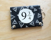 Hogwarts inspired vegan leather travel wallet