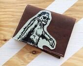 Cork Wallet with a Sasquatch