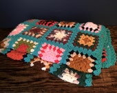 Vintage Very Bright Small Patchwork Afghan
