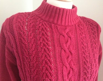 1980's Gitano cable knot sweater cotton
