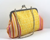 SALE Colorful Clutch, Cosmetic Bag, Essential Bag, Change Purse with Chain  FREE SHIPPING
