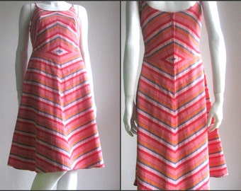 70s vintage chevron dress