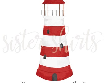 Watercolor Lighthouse Personalized Children's Tee