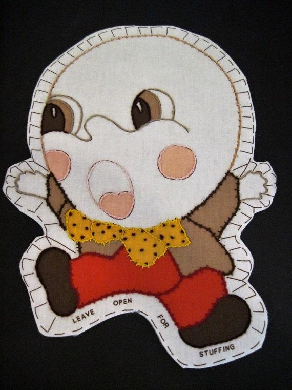Humpty Dumpty Pillow Pattern.Vintage 20\'s Humpty Dumpty Doll Pattern ...