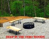 Wood Slab Or Beam Metal Legs: Bench, Coffee Table, TwinLeg Design,7 Inch long Top Plate 14 inch Base, 15.75in(40cm)H, Set Of 2