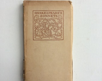 Shakespeare's Sonnets: 1901 Edition Letterpress Printed by Smith & Sale, Portland Maine