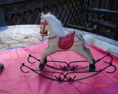 RESERVED for Tee- Vintage Display Decorative Rocking Horse  - Sweet