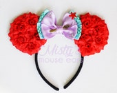 Inspired Ariel Little Mermaid Rose Mouse Ears