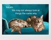 Cat Mom Card- Mom All Occasion Card- Mother's Day- Mom Birthday-LOL cats- Tabby Cat Card- Deborah Julian