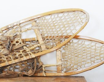 Vintage Gros Louis Snow Shoes 10 x 56 Made in Canada