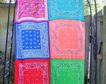 Colorful Boho Curtain, Boho Bandana Curtain, Boho Curtain Panel, Bohemian Curtain, Gypsy Curtain, Hippie Curtain