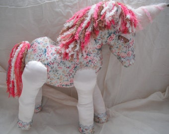 Mystical Fabric Unicorn / Mythical / Fantasy / Unicorn Doll / collectable / wedding / baby shower
