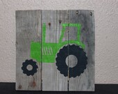 Rustic Tractor pallet sign