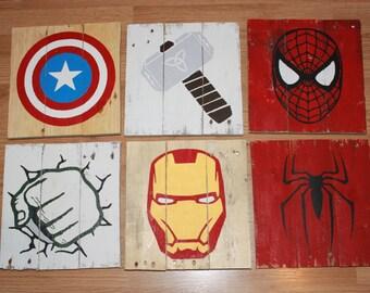 Superhero Marvel Comics Wood Pallet Sign