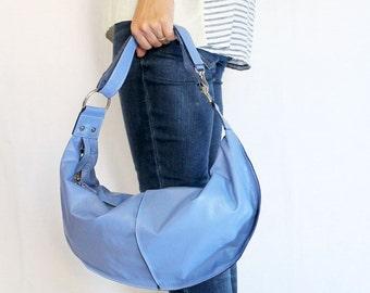 Sample Sale - Two-Way Leather Shoulder Bag / Handbag / Purse - Blue