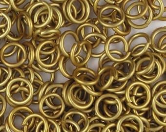 Gold Color Aluminum jump rings, 18G, 6.4mm - #1031